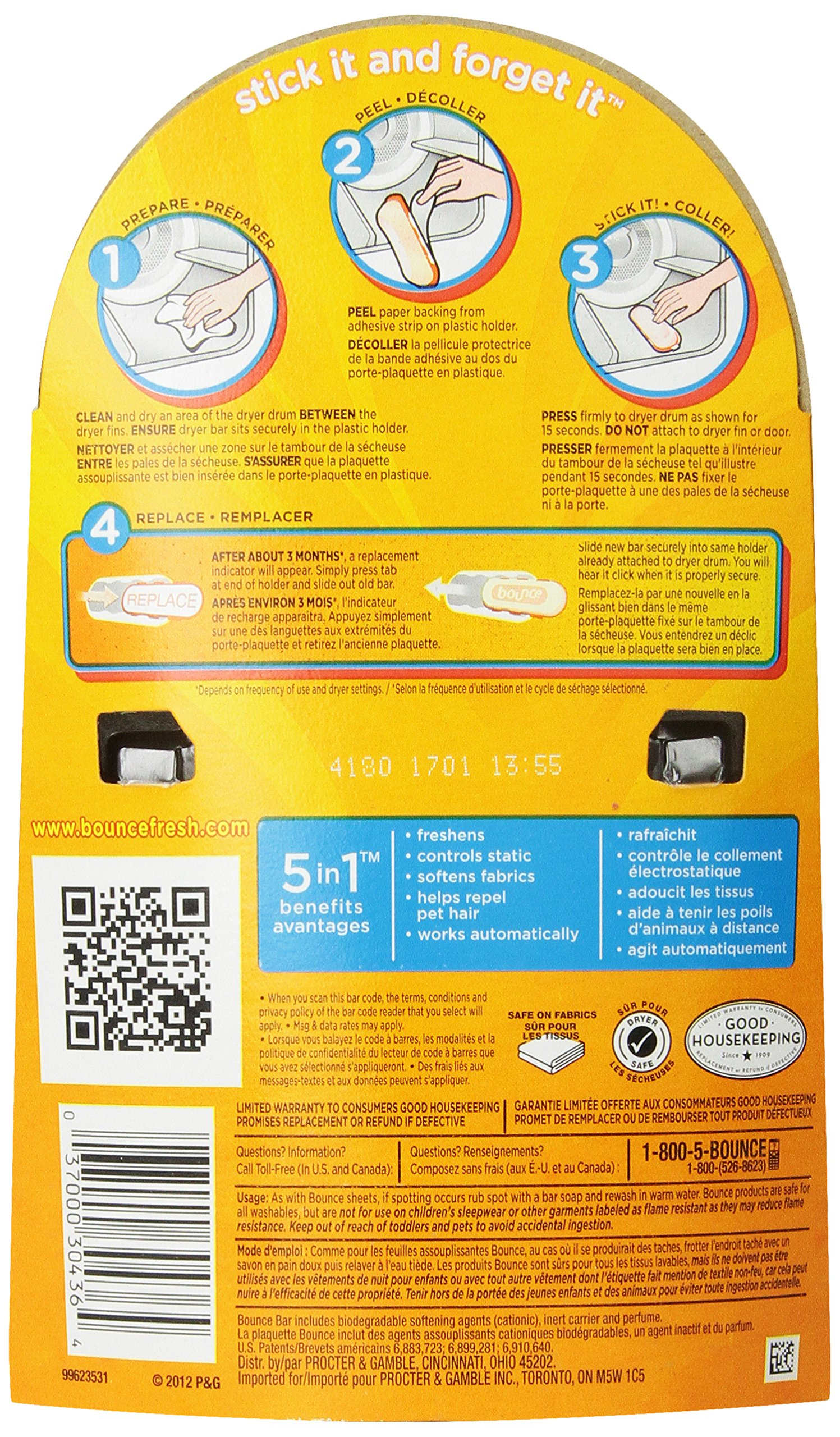Bounce 3 Month Outdoor Fresh Dryer Bar 1.92 Oz by Bounce (Image #2)