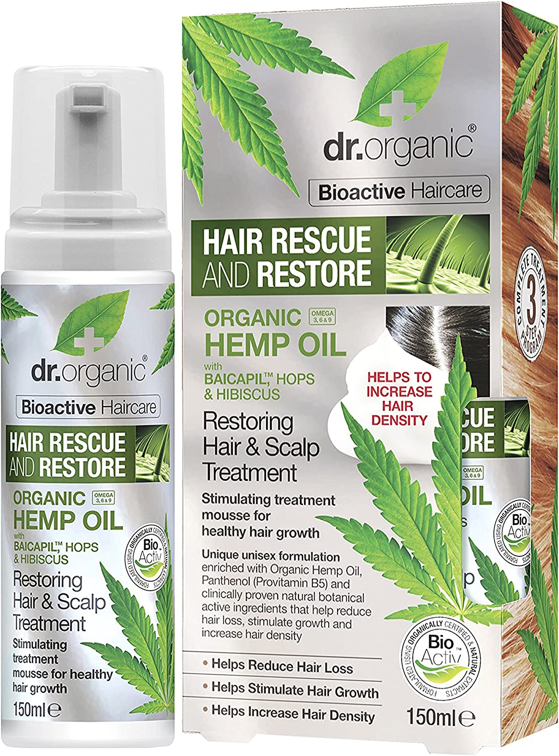 Dr Organic Tratamiento Capilar Hemp Oil 150 ml