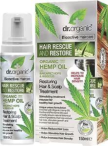 DR ORGANIC Restoring Hair & Scalp Treatment Organic Hemp Oil, 150 Milliliter
