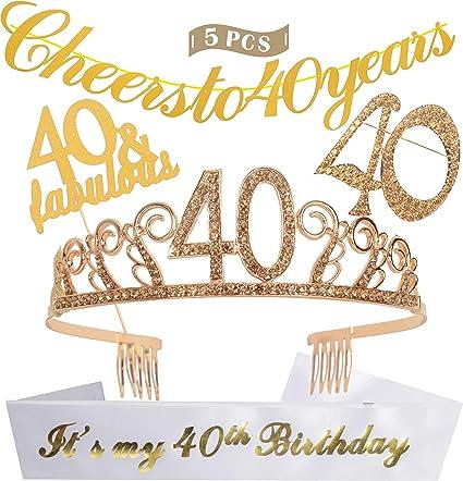 Satin Birthday Cheer 40th Birthday Sash