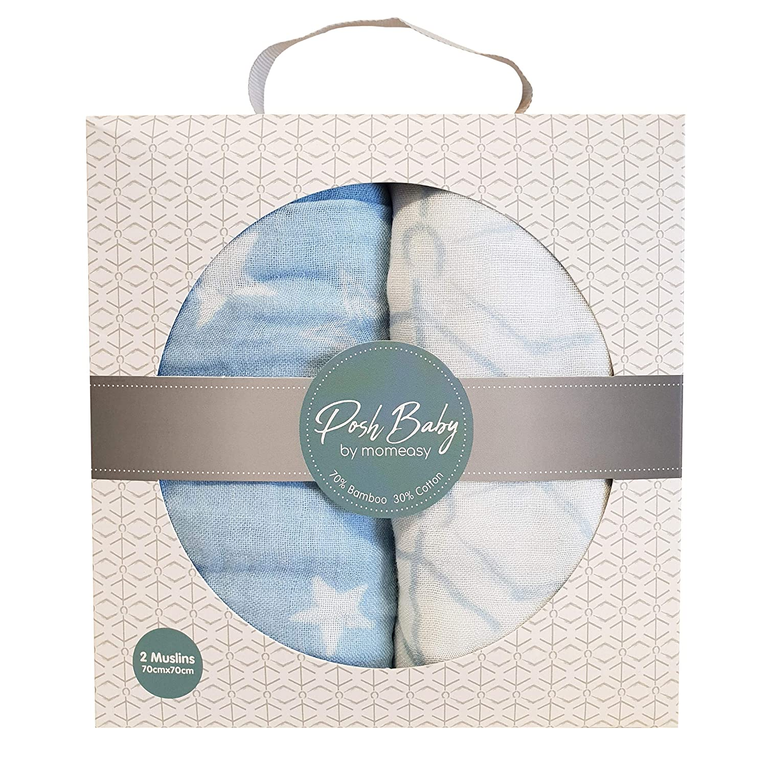 Stretchable Flowers Comfortable Silky Soft Pre-Washed Muslin Baby Swaddle Blanket Pure Cotton Breathable Warm Anti-Bacterial |Baby-Friendly Snug Easy-to-Wrap 43 43