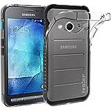 Samsung Galaxy Xcover 3 Coque, iVoler® [Liquid Crystal] Case Coque Housse Etui Ultra Hybrid TPU Silicone,[Extrêmement Mince Souple et Flexible] [Peau Transparente] [Shock-Absorption Bumper et Anti-Scratch Effacer Back] pour Samsung Galaxy Xcover 3 SM-G388F (Bumper - HD Clair) -Garantie de Remplacement de 18 Mois