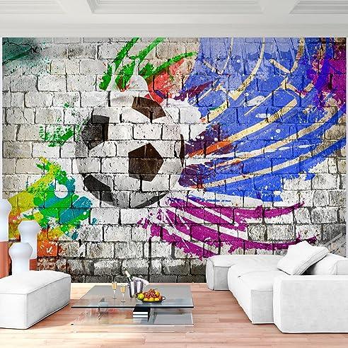 fototapete fussball 352 x 250 cm vlies wand tapete wohnzimmer schlafzimmer bro flur dekoration wandbilder xxl - Einfache Dekoration Und Mobel Individuelle Fototapeten Fuer Die Wohnung
