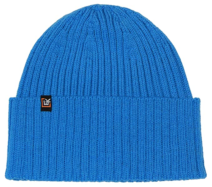 801be80cd7f19 Evolution Knitwear 100% Wool Rib Knit Beanie Hat Cap for Women   Men  (Aegean Blue) at Amazon Men s Clothing store