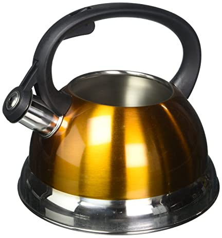 2.5 Quart Metallic Galaxy Tea Kettle From Select Home In YELLOW By Kitchen  Works