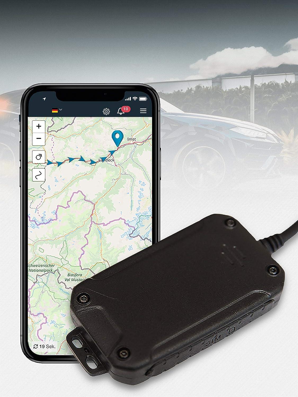 Salind GPS 01- Localizzatore GPS per auto, moto e veicoli con scheda SIM, app