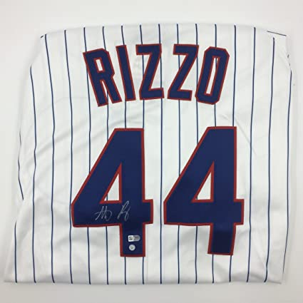 super popular 16f15 7041f Anthony Rizzo Autographed White Cubs Jersey at Amazon's ...