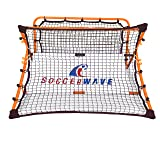 SoccerWave Jr. 2 in 1 Soccer Rebounder and Trainer, FIFA World Cup soccer/football training device soccer passing shooting trapping drills soccer goal, soccer volley shots kids/adults agility trainer