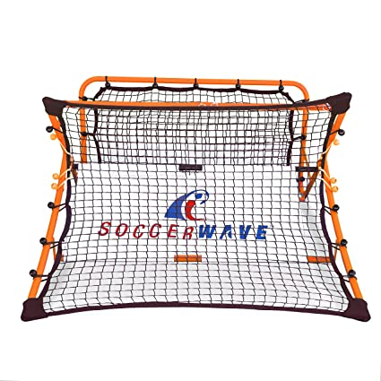 27d88a8ed Patented,Trademarked SoccerWave Jr. 2 in 1 Soccer Rebounder net to Improve  Passing Accuracy