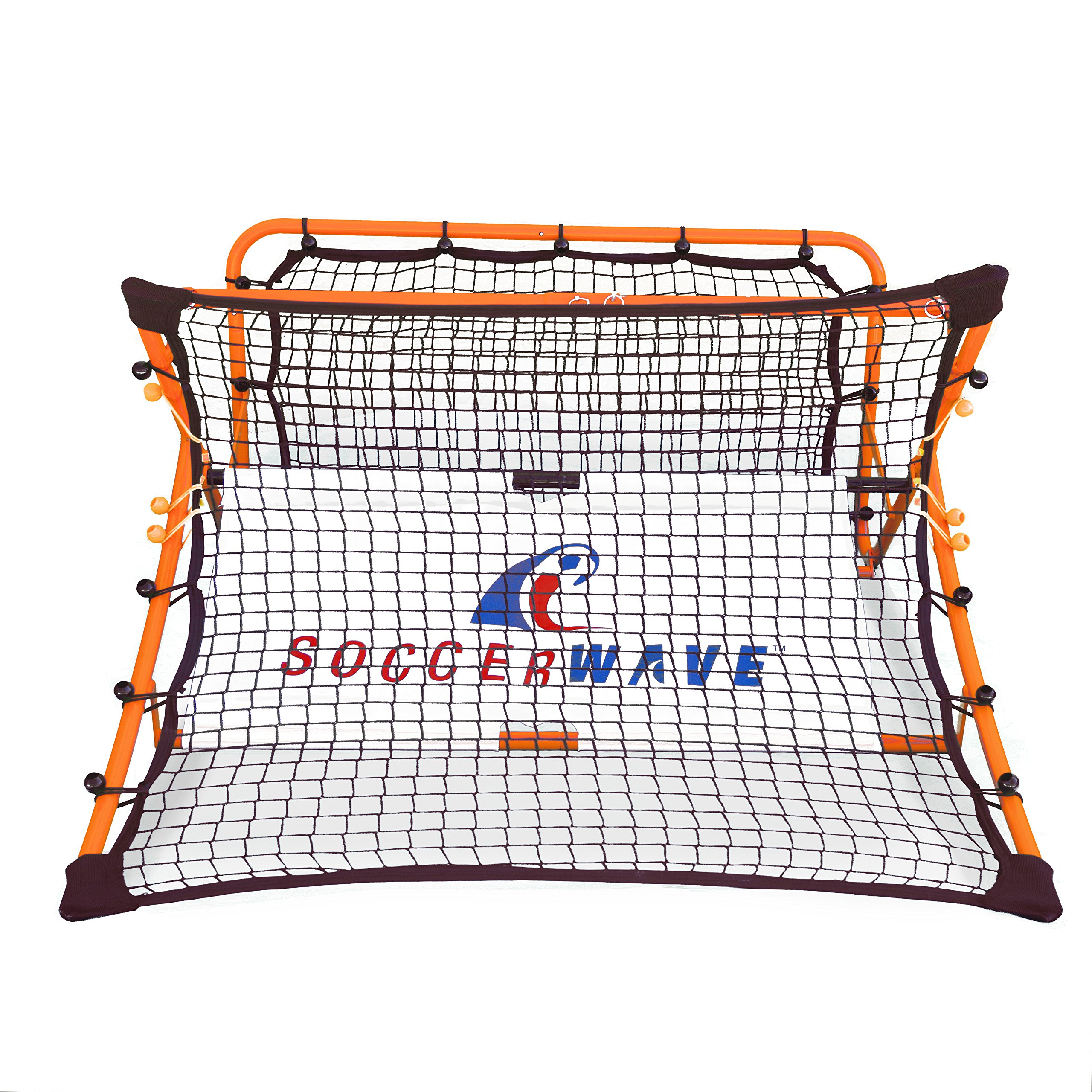 Soccer Rebounder Net by Soccer Wave | SoccerWave Jr. 2 in 1 Skill Trainer | Designed to Refine Trapping and Passing Accuracy by Soccer Wave
