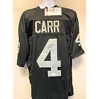 $149 » Derek Carr Las Vegas Raiders Signed Autograph Custom Jersey Black JSA Witnessed Certified