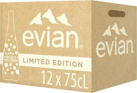 Evian Natural Mineral Water Limited Edition, 750ml (Pack of 12)