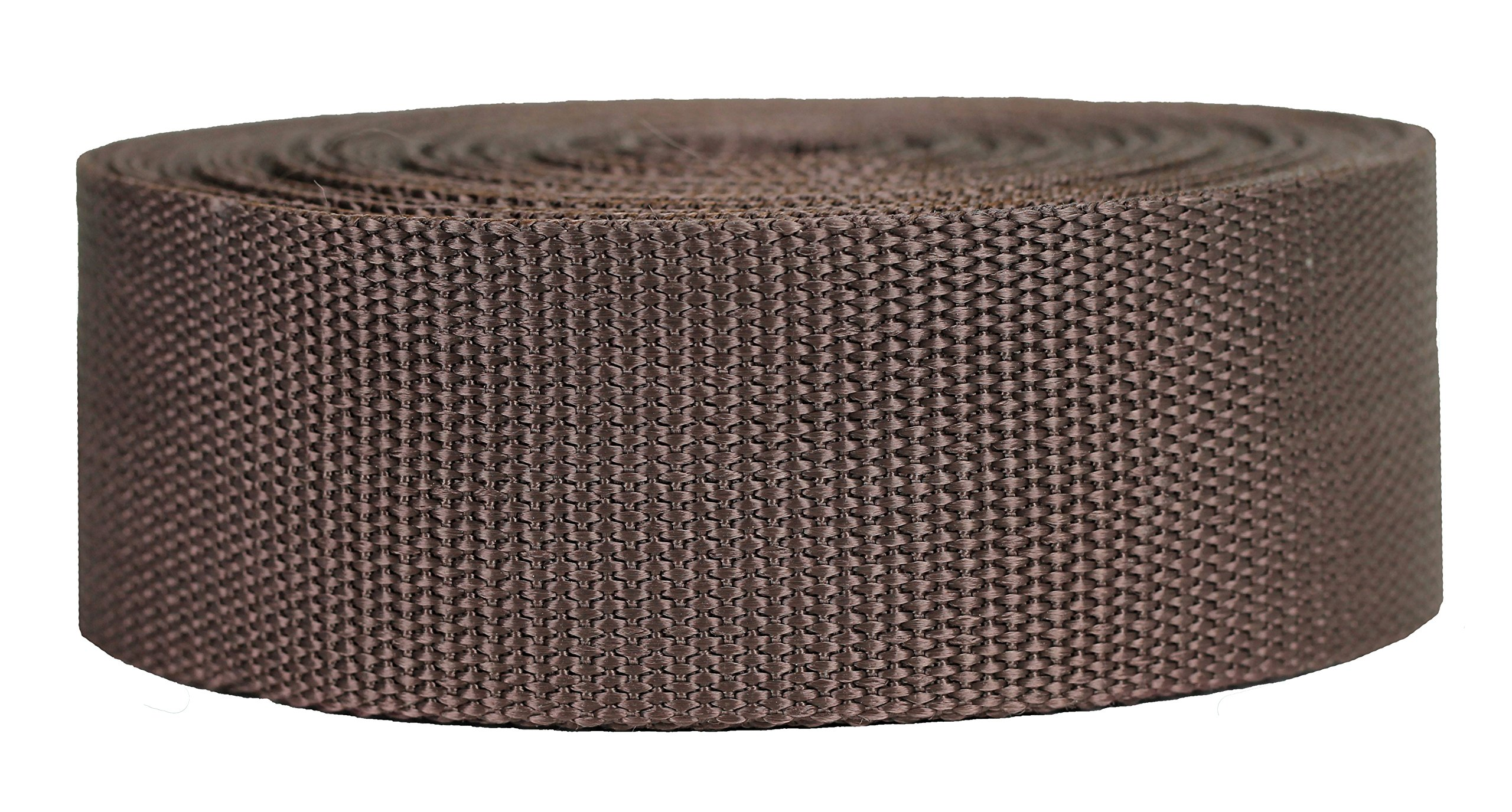 Strapworks Heavyweight Polypropylene Webbing - Heavy Duty Poly Strapping for Outdoor DIY Gear Repair, 2 Inch x 10 Yards - Brown