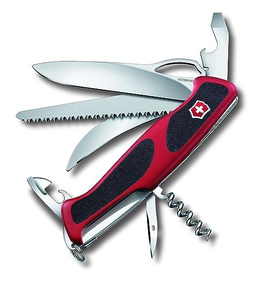4 opinioni per Victorinox RangerGrip 57 Hunter Coltellino Multiuso Svizzero, Rosso/Nero