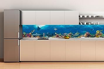 Oedim Dekoration Wand Küche mit Teilungsnähten in Aluminium ...