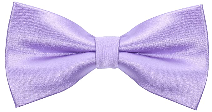 9ae71c4510fb Solid Silk Bow Ties for Men - Bow Tie - Lilac Purple at Amazon Men's ...