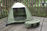 Iconic Pet Cozy Camp Pet Tent House, Sage Green