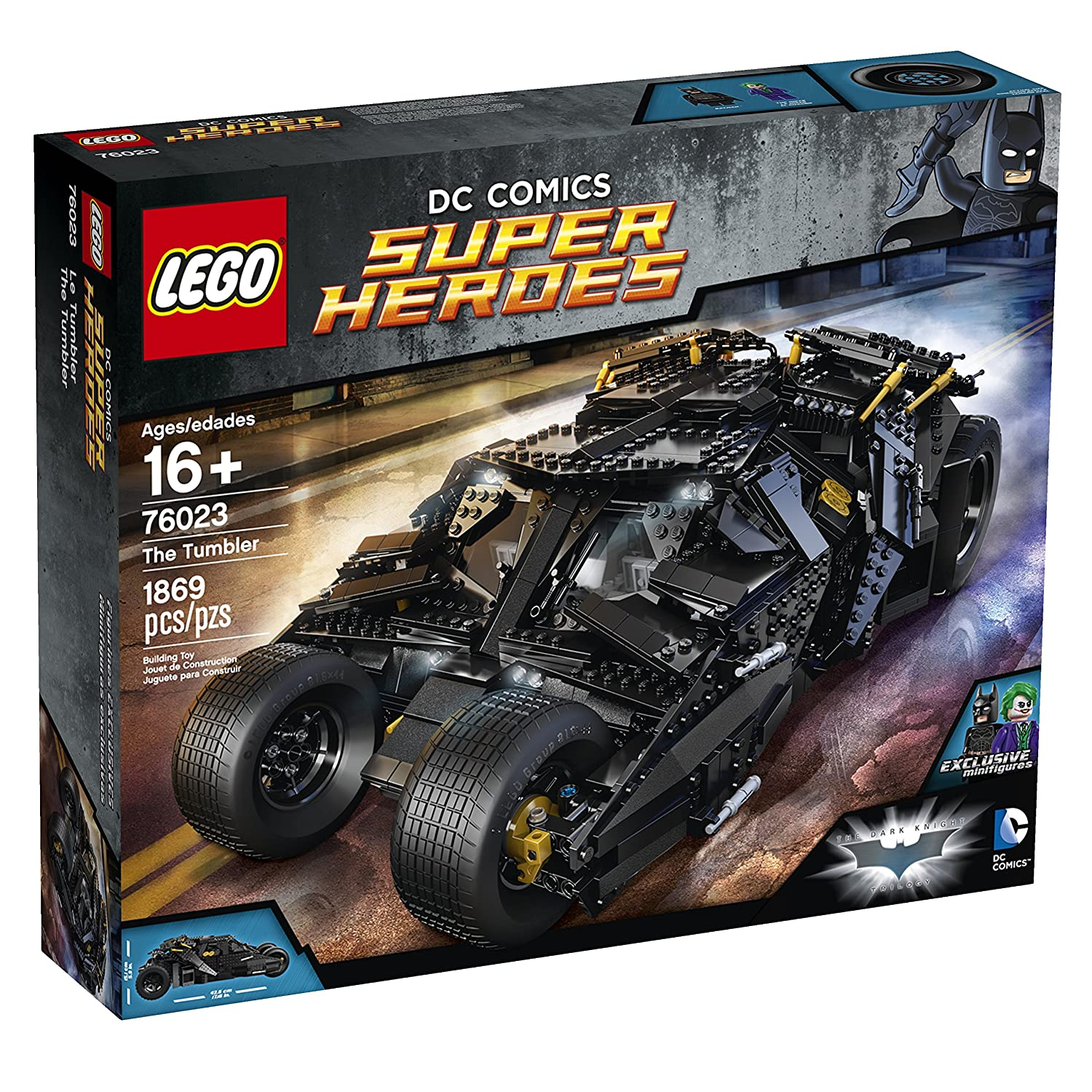 Amazon com lego superheroes 76023 the tumbler discontinued by manufacturer toys games