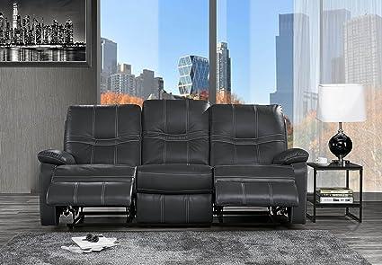 Amazon.com: Casa Andrea Sofá reclinable tapizado de piel, 83 ...