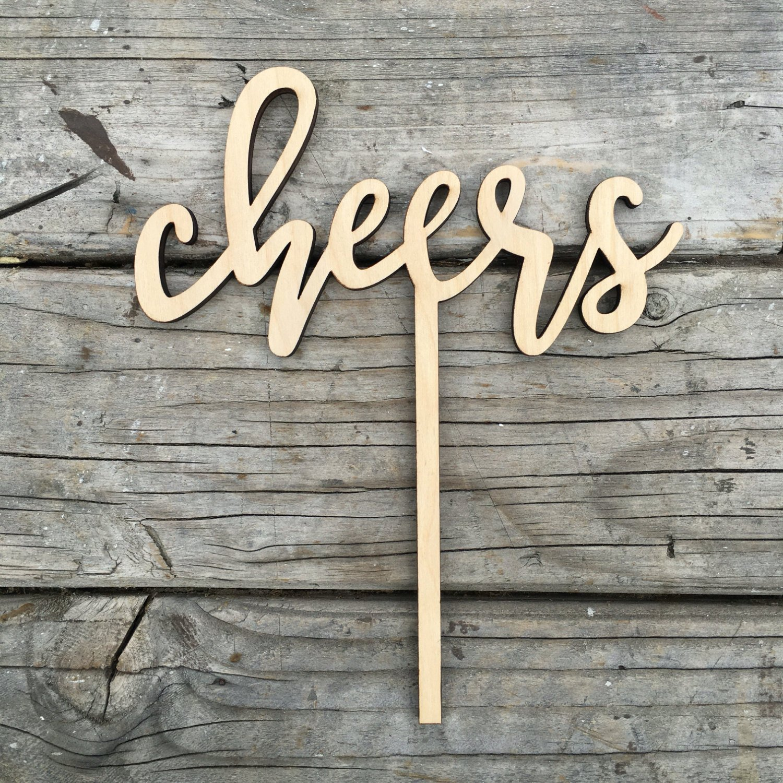 Amazon.com: Cheers Wedding Cake Topper 5.5\