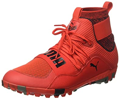 new product 7eba3 72844 Puma 365.18 Ignite High St, Chaussures de Football Homme, Rouge (Flame  Scarlet Black