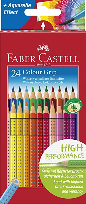 Faber Castell Farbstift Buntstift Colour GRIP 12er Kartonetui