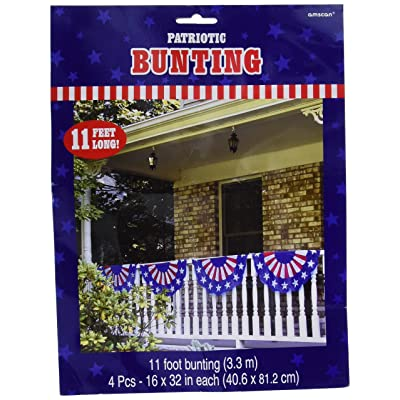 "Patriotic Bunting Party Garland, 11' x 16"": Toys & Games"
