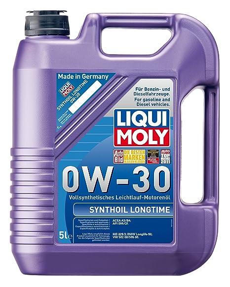 Liqui Moly 1172 Synthoil Longtime 0W-30 - Aceite antifricción sintético para motores de automóviles