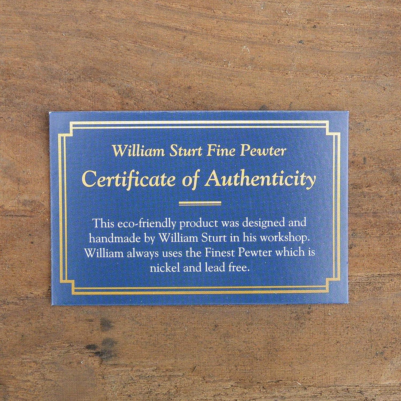Gemelos de Peltre Perro de Caza Pointer Hecho a Mano por William Sturt en Francia