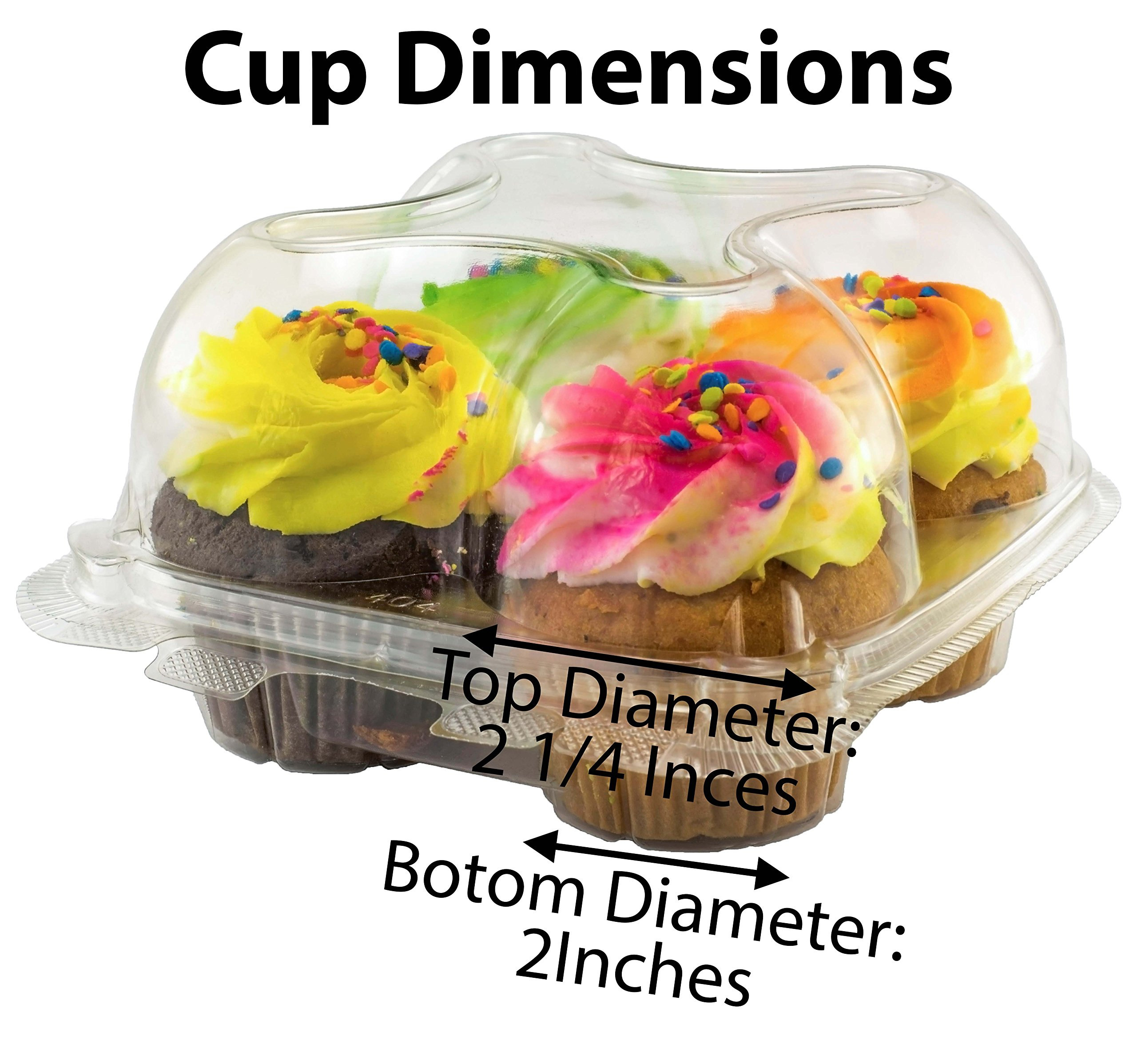 Katgely Cupcake Boxes Cupcake Containers 4 Pack Cupcake, Set of 10 by katgely (Image #2)