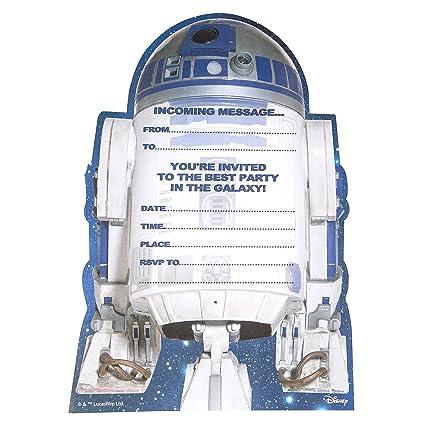 Hallmark Tarjeta De Invitación A Fiesta De Cumpleaños Personalizable Con Estilo De Star Wars Texto En Inglés 20 Unidades