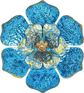Ridota Metal Flower Wall Decor, 11.5