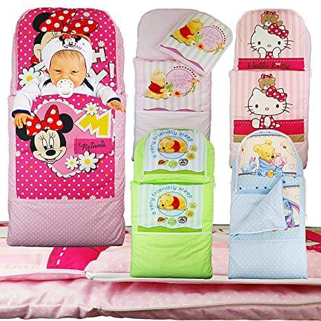 Saco + cojín para cochecito Moisés Cuna cochecito funda Saco de dormir Baby Saco (Minnie Mouse de color rosa): Amazon.es: Bebé