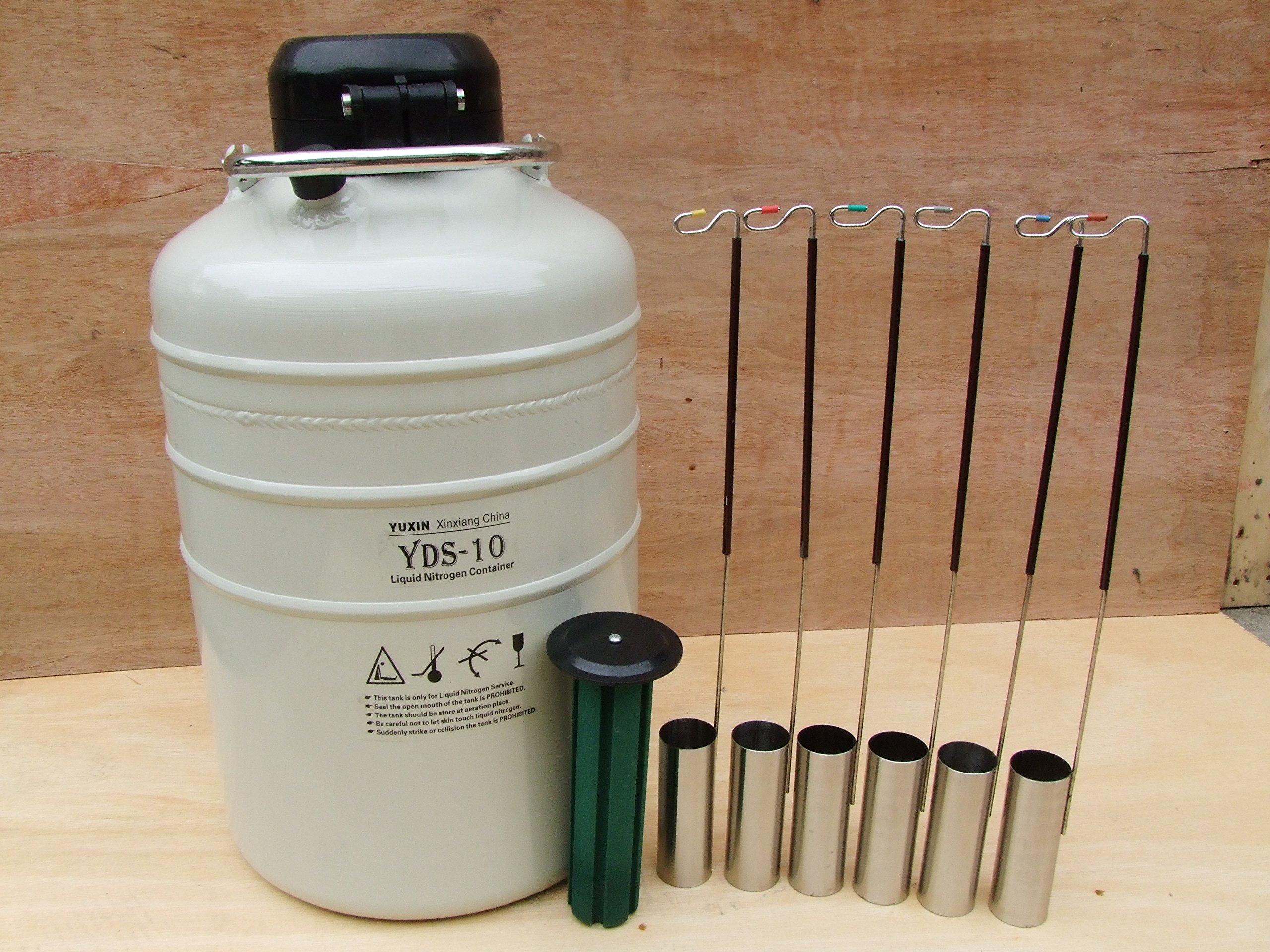 10 L Cryogenic Container Liquid Nitrogen Ln2 Tank with Straps and Carry Bag