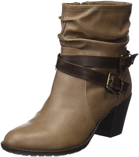 b83116ee MTNG Collection 51669, Botas Cortas Para Mujer, Marrón (Crax Taupe), 35 EU:  Amazon.es: Zapatos y complementos