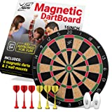 Fun Adams 16 inch Magnetic Dartboard with Safe Precision Darts, Best Kids Birthday Present for Boys & Girls, Great Classic Game the Whole Family can Enjoy - Play in Teams or Solo, Simple & Easy to Install. Childrens Darts Board with Accessories