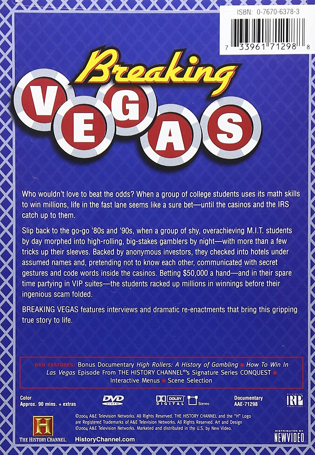 analysis breaking vegas history channel documentary Amazonca - buy breaking vegas (history channel) by a&e home video at a low price free shipping on qualified orders see reviews & details on a wide selection of blu-ray & dvds, both new & used.