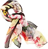 Desigual Women's Flowers And Checks Scarf