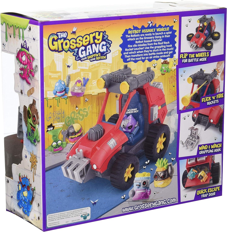 Le Grossery Gang 2 en 1 rotbot véhicule d/'assaut /& aéroglisseur 2 Figures NEW