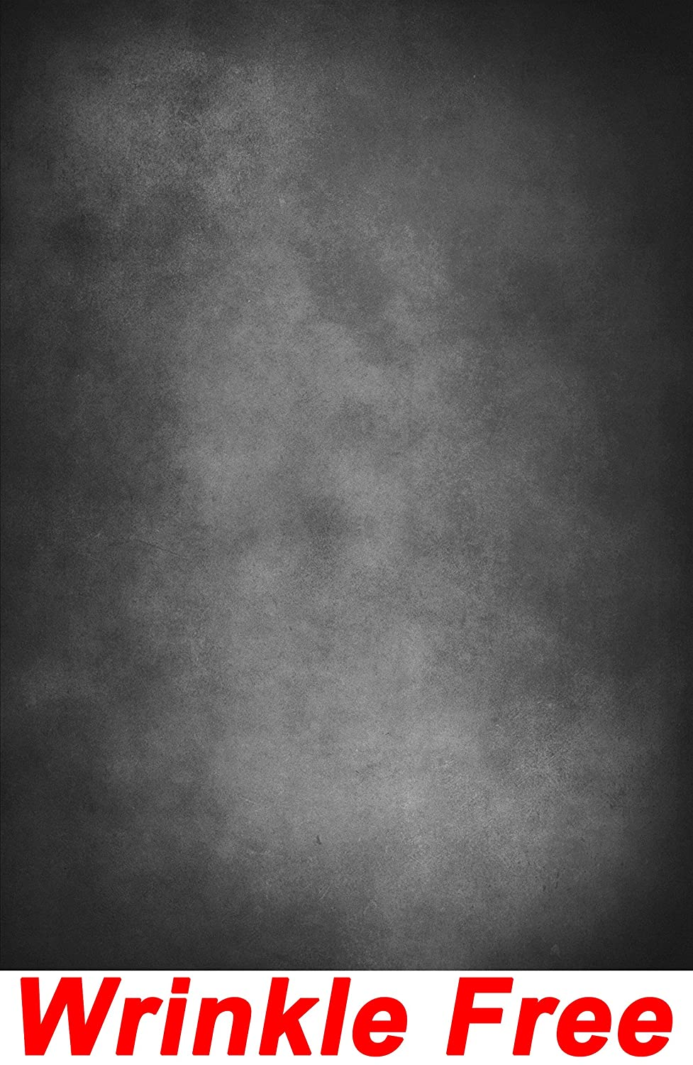 Dark Grey Concrete Wall Backdrop Wrinkle Free Cloth Rustic Grunge Weathered Cement Solid Gray Wall Portrait Photo Abstract Texture Printed Fabric Photography Background G0502, 10 Wide by 10 Tall