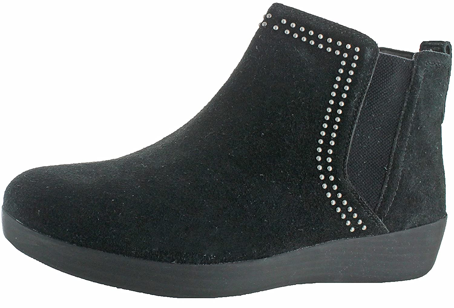 FitFlop Womens Superchelsea Suede Boot w/Studs B0727NNMXL 5 B(M) US|Black