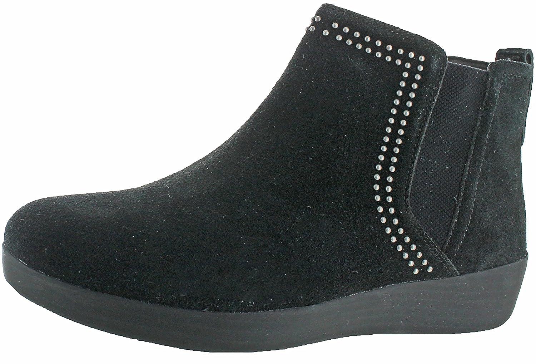 FitFlop Womens Superchelsea Suede Boot w/Studs B0713Q4FXD 8.5 B(M) US|Black