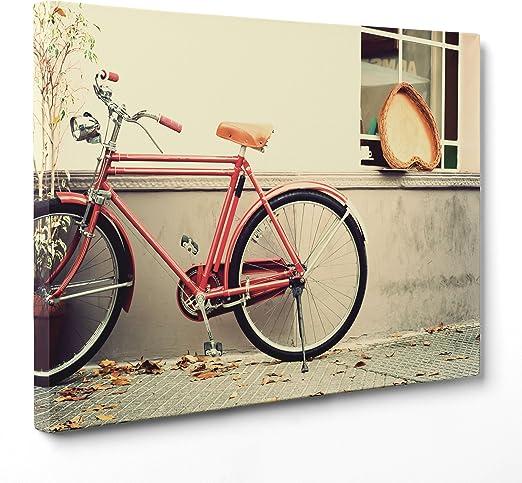 Cuadro sobre lienzo Canvas – ConKrea – Listo para colgar – Bicicleta de Para Hombre Vintage: Amazon.es: Hogar