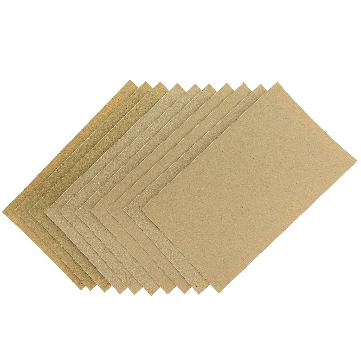 Coral Tools 74200 Abrasive Sandpaper Sheets 10 Pack incl Fine Medium and Coarse Grits, Brown Coral Tools Ltd