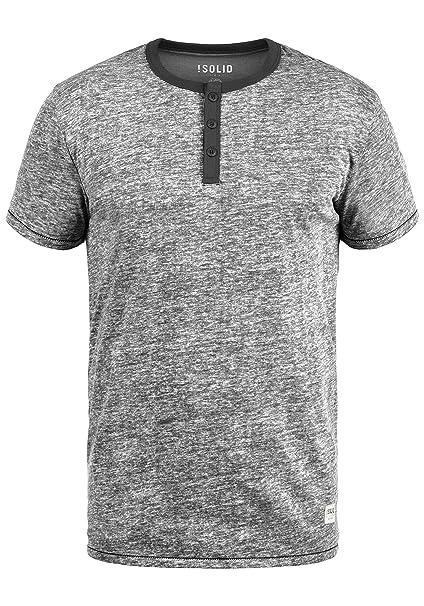 !Solid Volker Camiseta Básica De Manga Corta T-Shirt para Hombre con Cuello Grandad cQewqdNMn2