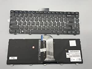 Keyboard go go go New Keyboard for Dell Inspiron 14 3421 3437 14R 5421 5437 15Z 5523 M431R 5435 Latitude 3440 Vostro 2421 US MP-12C83SUJ442 with Removable Screwdriver Black Frame Backlight 3421