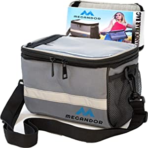 Bike Handlebar Bag - Bicycle Phone Holder Handlebar Front Frame Bag - Touchable Phone Bike Pouch Lunch Bag for Cycling + Shoulder Strap