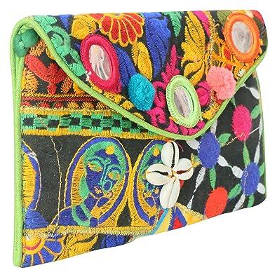 2aca01a7621 Sheetal Handicrafts Women s Clutch (Multi-Coloured
