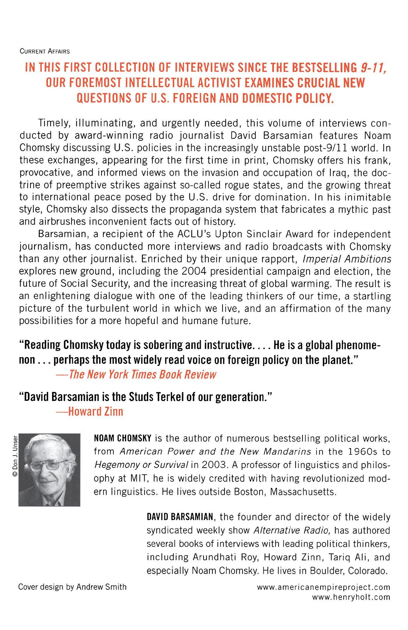 11 World (american Empire  Project): Noam Chomsky, David Barsamian: 9780805079678: Amazon: Books