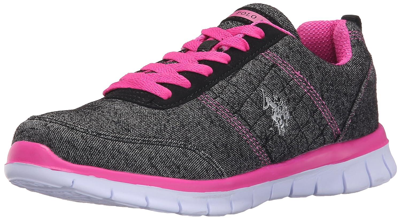 U.S. Polo Assn. Women's Women's Cece Fashion Sneaker B01BEY13N8 6 B(M) US Black Heather Jersey/Fuchsia